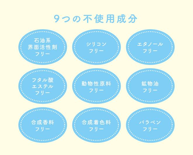 9つの不使用成分
